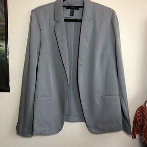 F21 Grey Open Front Blazer