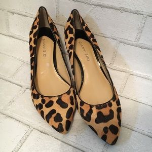 Leopard kitten mohair heels in size 8.5