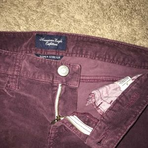 American eagle corduroy skinny's size 0.never worn