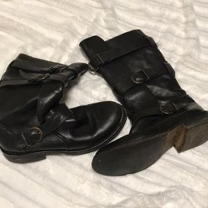 Steve Madden black leather boots