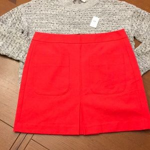 Lovely Red Lined Loft Skirt