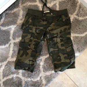 NWOT Camo Long Shorts