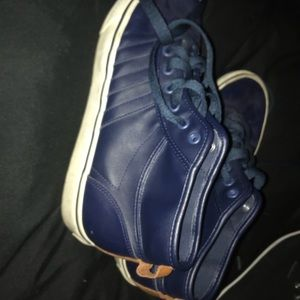 Limited edition blue leather adidas