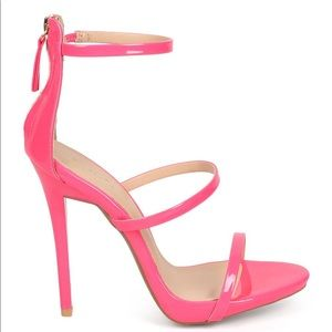 Candy Pink Strap Heels 💓