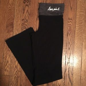 Pink Victoria's Secret Black boot cut yoga pants