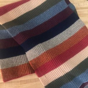 Multi color oversized wool scarf
