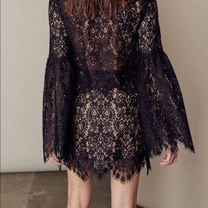 NWOT For Love and Lemons black Vika lace skirt