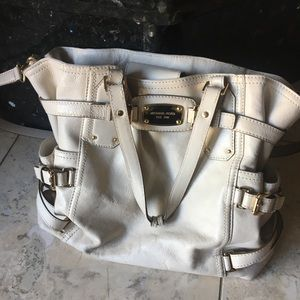 Michael Kors White Crossbody Tote