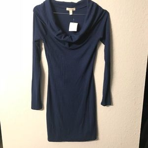 Silence+ Noise Blue stripe longsleeve dress NWT