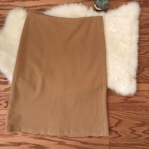 J.Crew tan 100% wool skirt sz 4