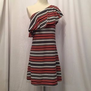 NWT Striped one shoulder DRESS or TUNIC