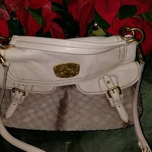 Miu Miu MIU MIU Taupe Woven Leather Tote Bag