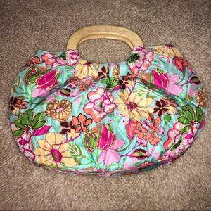 Vera Bradley wood handle handbag. EUC