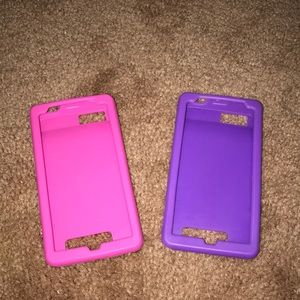 Pink and purple silicone phone cases