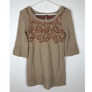 Free People Rosette Sweater Tunic