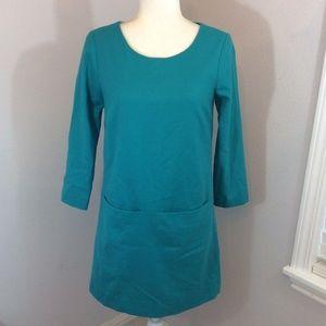 JCREW Wool 3/4 Sleeve Shift Sheath Dress