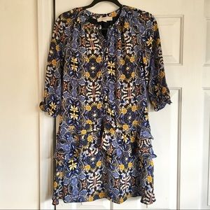 Floral Dress with 3/4 Sleeves