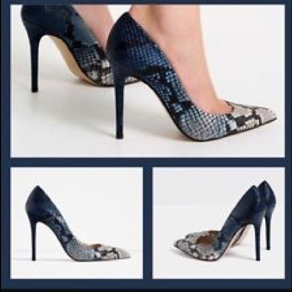 0b13c0240a0 Zara Leather Embossed Ombre Snake Print Herls. M 5a316e87680278e0a40153ae