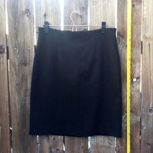 Cupio Black Straight Pencil Skirt