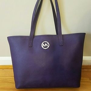 Purple michael kors tote shoulder bag