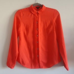 Ann Taylor textured Coral Shirt Top