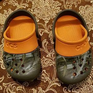 Little boy toddler crocs