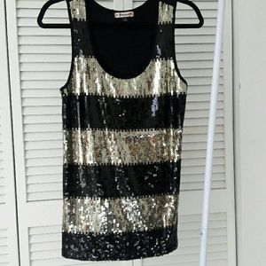 Forewer 21 sequin top great for the holidays