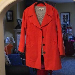 Gorgeous Orange Lined Coat