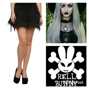 NAME YOUR PRICE Hell Bunny Tiered Mini Skirt