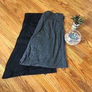 Bundle Maxi Skirts Black and Gray