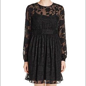 Michael Kors Black Floral Jacquard Dress