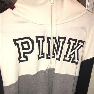 VS pink quarter zip hoodie
