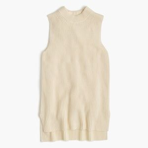 J Crew Sleeveless Tunic Sweater