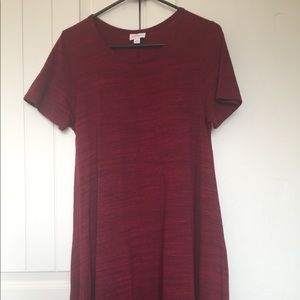 Dark brick red Lularoe Carly!