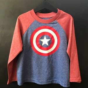 5T Boys Marvel Captain America Graphic Shirt