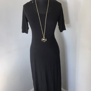 Bar III Black long fitted dress