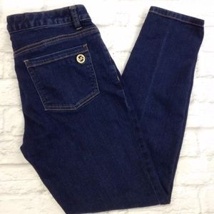 MICHAEL KORS DARK BLUE WASH SKINNY JEANS denim