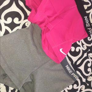 Nike pro shorts size small bundle