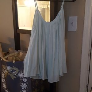 Gap Silky Pleated Mint Camisole