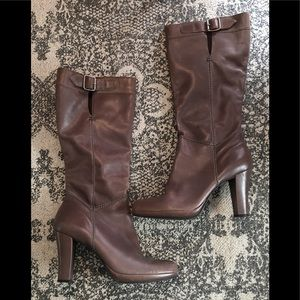 "Steve Madden ""Devoted""  Leather Gray/Brown Boots"