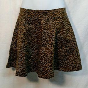 Gypsy Warrior Leopard Print Circle Skirt. Small