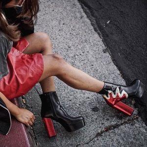 b02227da18c3 Forever 21 Shoes - Forever 21 Flame Heeled Platform Boots
