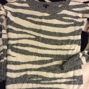 Express gray zebra print sweater
