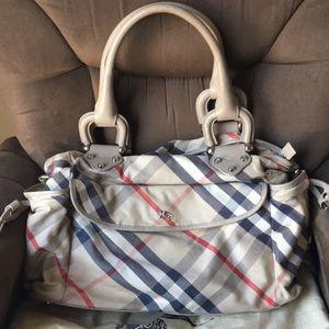Burberry diaper bag