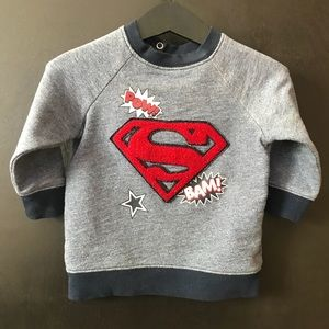 9/12M Boys H&M superman graphic sweatshirt