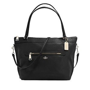 Coach Tyler Tote In Pebble Leather