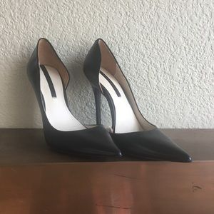 Zara black stiletto heels. Size 6. Never worn.