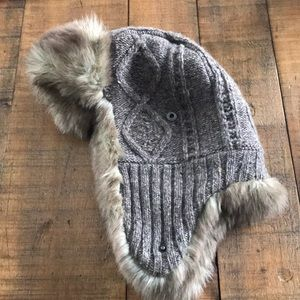 American eagle fur lined hat
