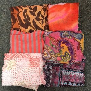 Bundle of Six Scarves