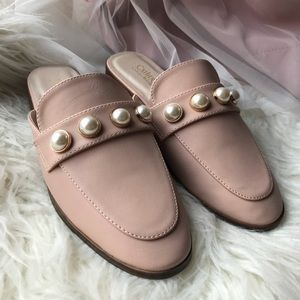 Nude Pearl Loafer Mules
